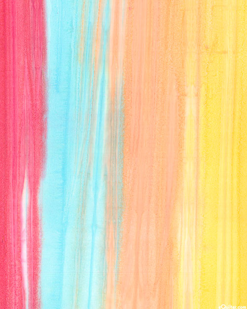 Saturn - Watercolor Striped Hand-Dye - Tropical Punch