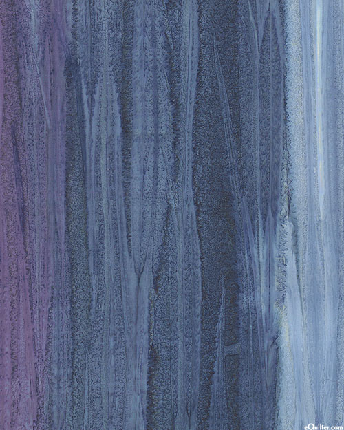 Saturn - Watercolor Striped Hand-Dye - Storm Blue