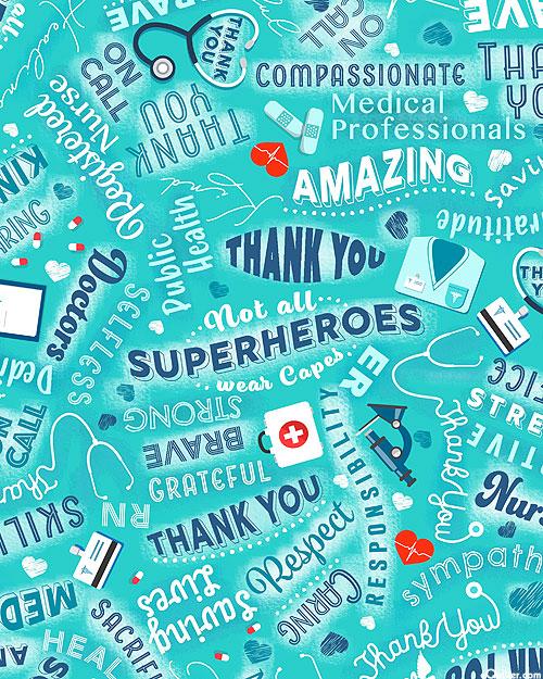 Everyday Heroes - Medical Superheroes - Deep Aqua