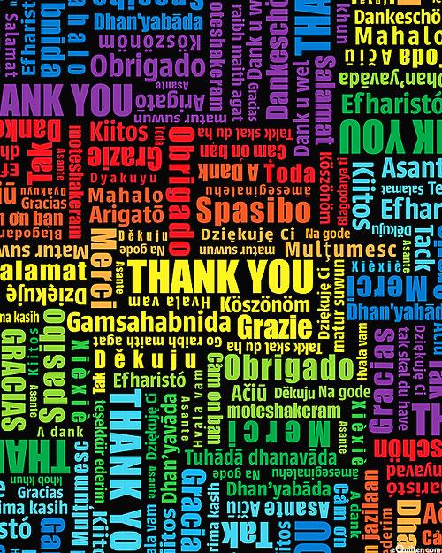 Everyday Heroes - International Thank You - Black