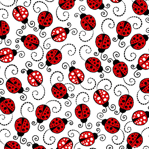 You Make My Heart Happy - Little Red Ladybugs - White