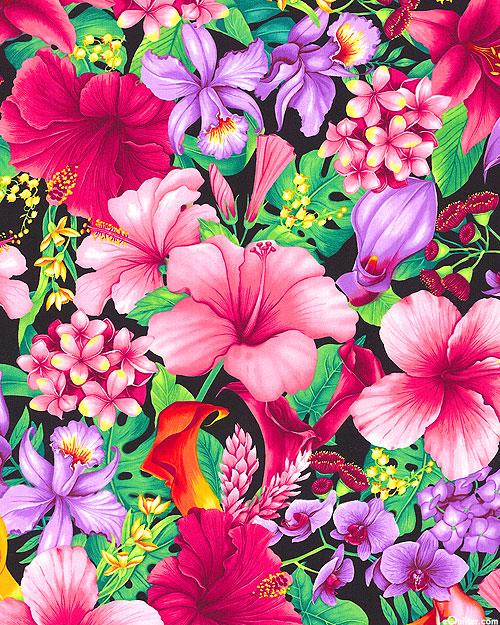 Island Breeze - Juicy Florals - Black