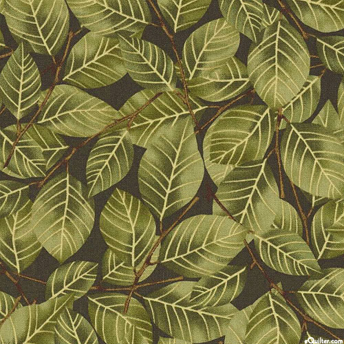 Autumn is Calling - Leaf Thicket - Pine Green