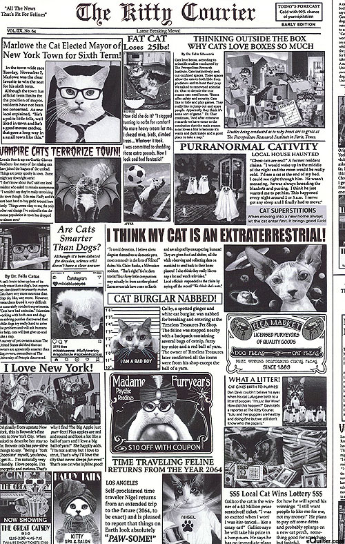 Dogs & Cats - Newspaper Articles About Cats - White