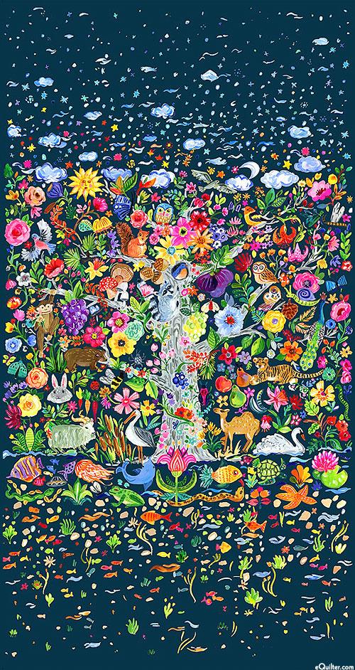 "Tree of Life - Busy Garden - 24"" x 44"" PANEL - DIGITAL"