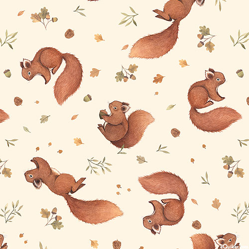 Little Fawn - Hungry Squirrels - Cream