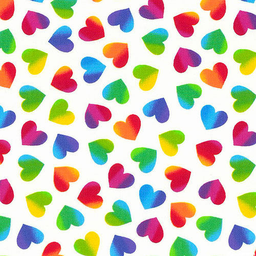 Hearts & Dots - Valentine Hearts Large - White