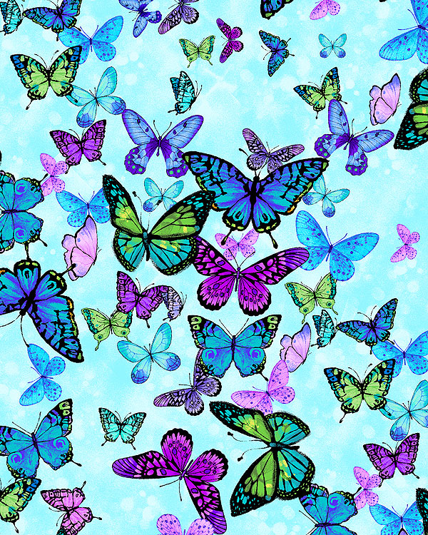 Forest Magic - Butterfly Skies - Dawn Blue