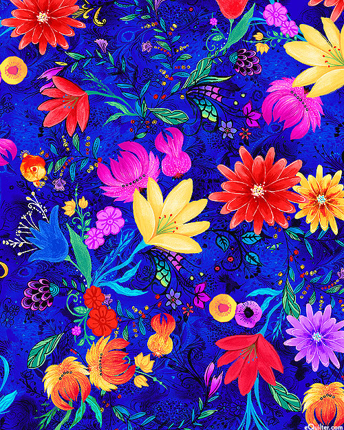 Whirlwind - Fable Floral - Royal Blue - DIGITAL PRINT