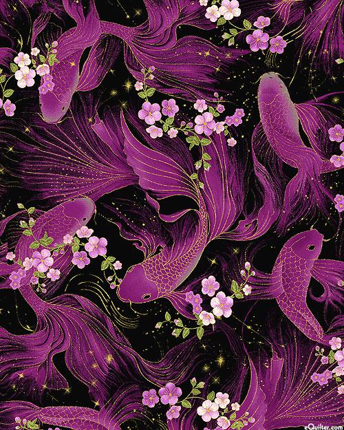 Majestic - Nishikigoi Blossoms - Black/Gold