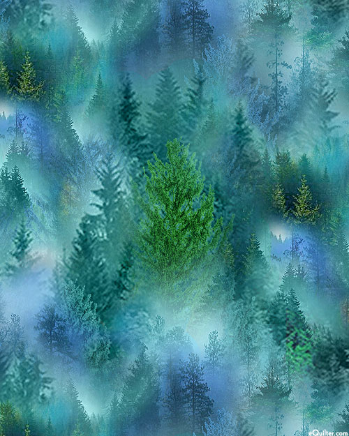 Mountain Vista - Spruce Forest - Teal