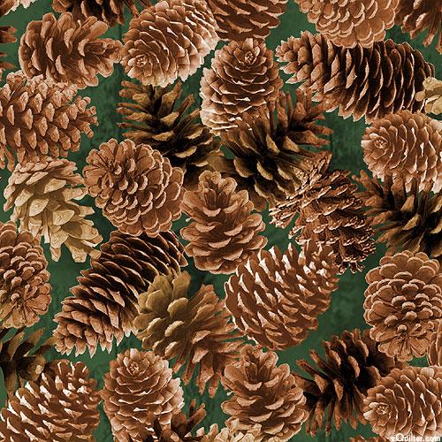 Mountain Vista - Pine Cone Collection - Dk Green