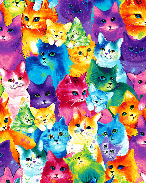 Meow-Za - Rainbow Cats & Kittens - Multi