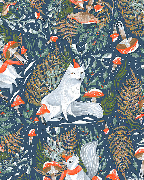 Frosty Forage - Sly Foxes - Steel Blue