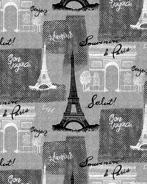Bonjour - Messages from Paris - Steel Gray