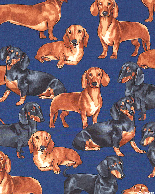 Just Dachshunds - Navy Blue