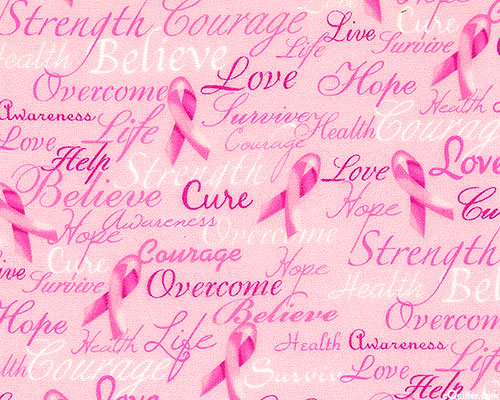 Pink Ribbons & Words of Inspiration - Bubble Gum Pink