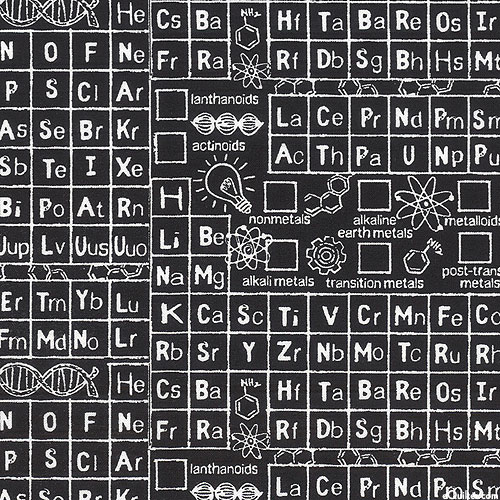 Periodic Table on Chalkboard - Black