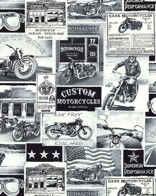 History of Motorcycles - Chrome Gray