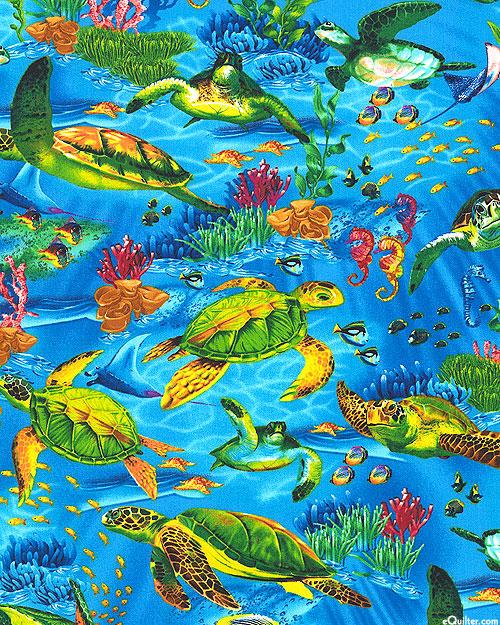 Sealife Vacation - Sea Turtles - Bahama Blue