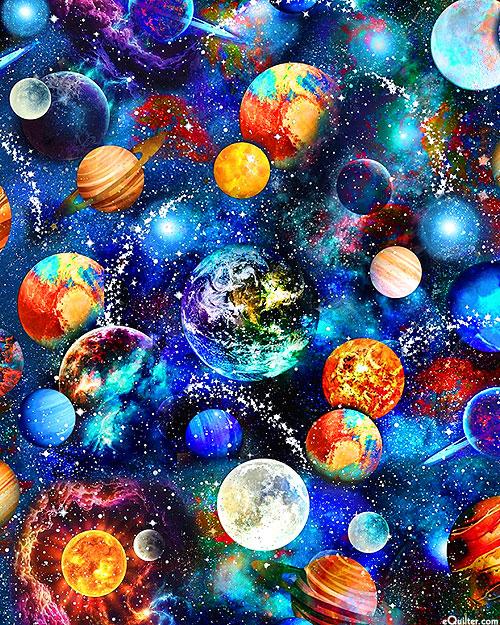 Stardust & Planets - Midnight Blue - DIGITAL PRINT