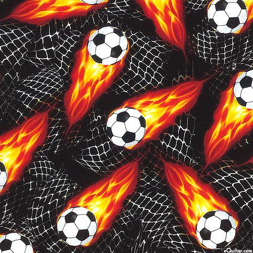 Flaming Soccer Balls - Black