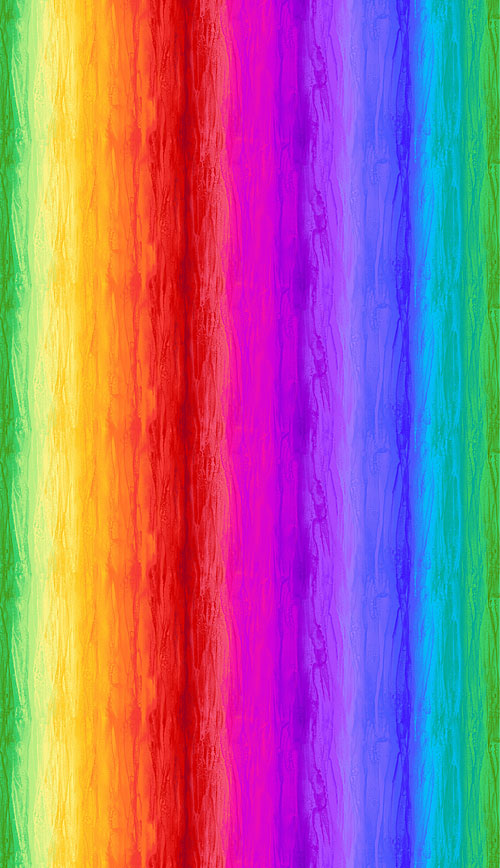 Spirit - Wide Rainbow Ombre Stripe - Mutli - DIGITAL PRINT