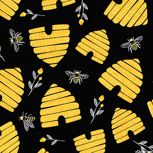 Save the Bees - Honeycomb Skeps - Black
