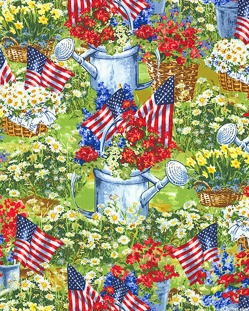 Patriotic - Independence Flower Garden - Meadow Green