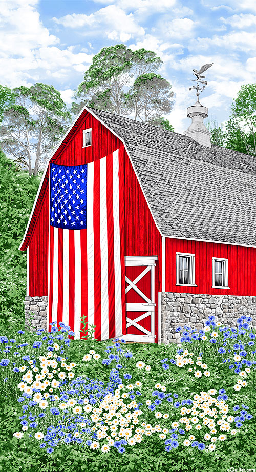 "Freedom Farm - Big Barn Flag - 24"" x 44"" PANEL"