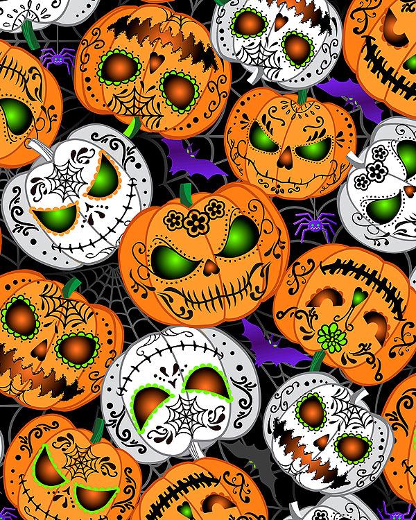 All Eyes on You - Scary Pumpkin Glow - Black/Glow