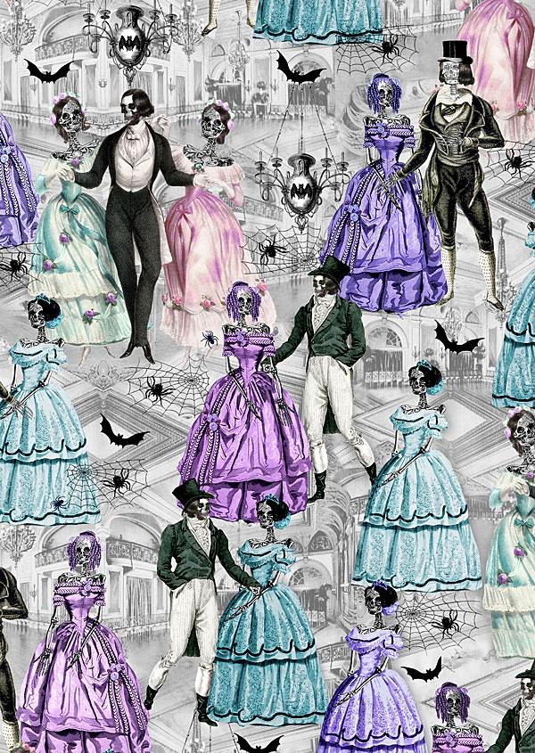 Last Dance - Victorian Skeletons Ball - Pewter Gray
