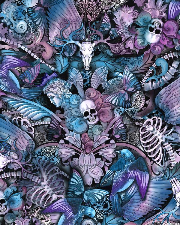 Last Dance - Skull & Floral Butterfly Tattoo - Multi