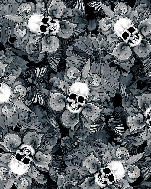 Last Dance - Victorian Skulls - Black