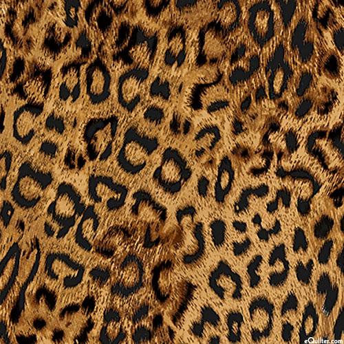Lifelike Leopard Spots - Mocha Brown