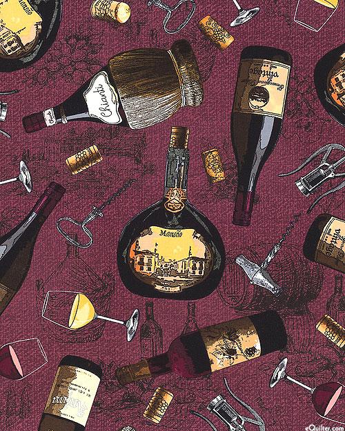 Wine Country - Chianti Vineyard - Merlot Purple