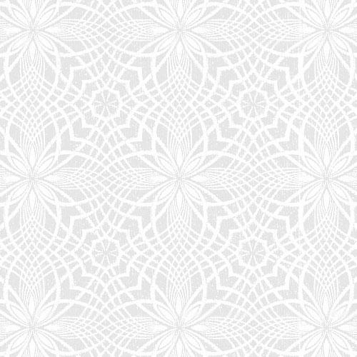 Spirograph Stars - White