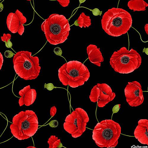 Wild Poppy - Stem Cascade - Black