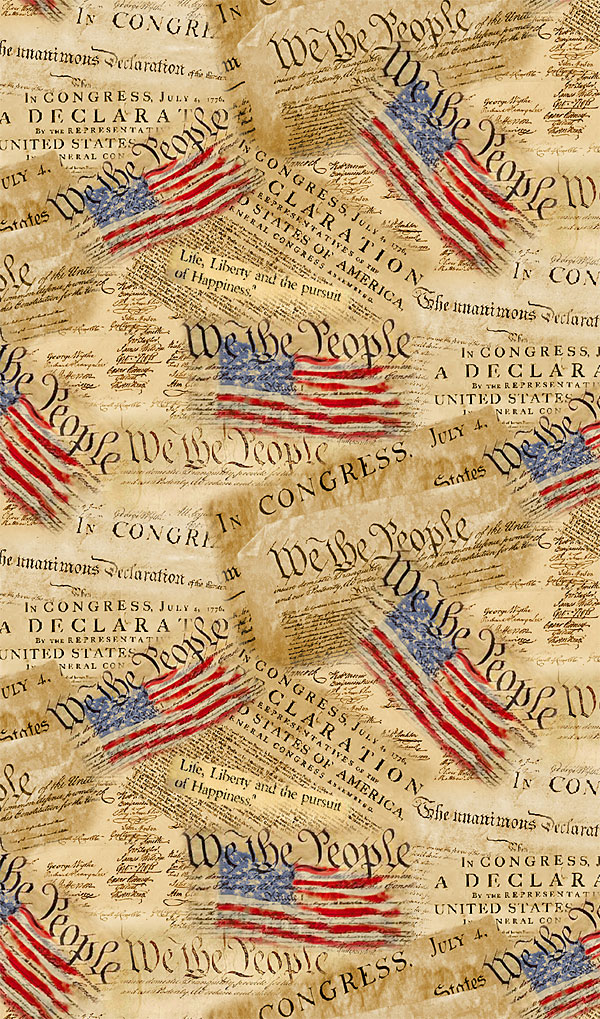 We the People - Declaration & Constitution - Antique Parchment