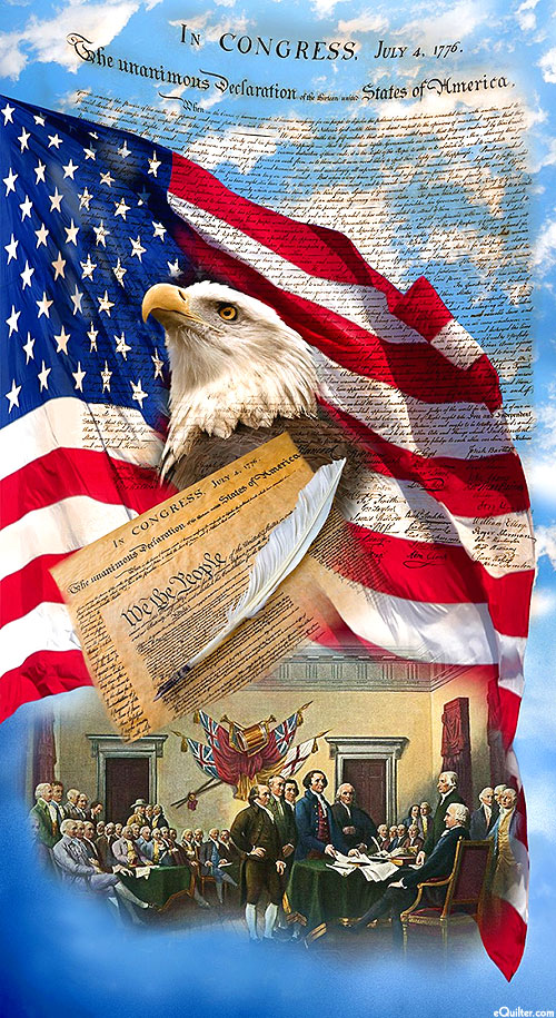 """We the People - Declaration of Independence - 24"""" x 44"""" Panel"""