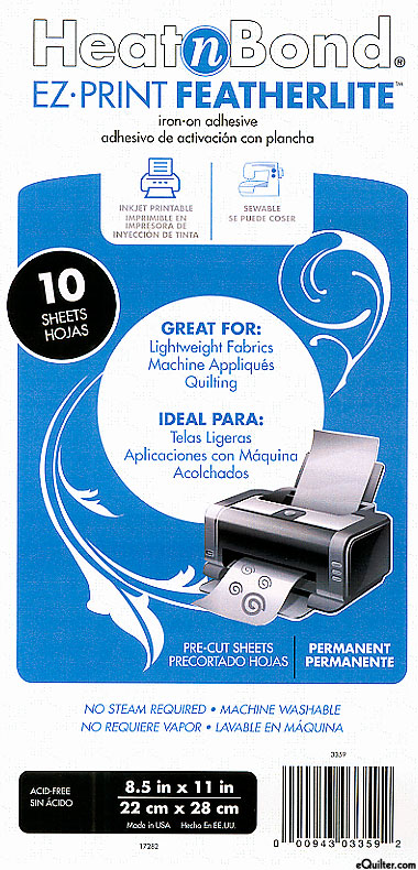 Heat n Bond EZ-Print Featherlite - Iron-on