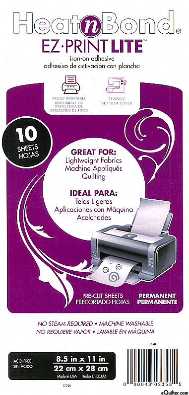 Heat n Bond EZ-Print Lite - Iron-on