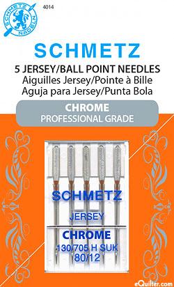 Schmetz Chrome Jersey/Ball Point Machine Needles - Size 80/12