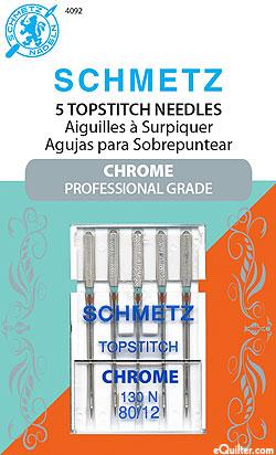 Schmetz Chrome Topstitch Machine Needles - Size 80/12