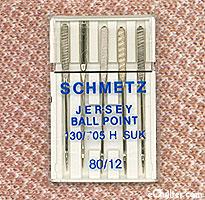 Schmetz Jersey/Ballpoint Machine Needles - Size 80/12