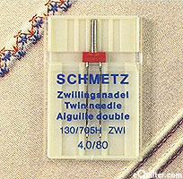 Schmetz Twin Sewing Needles - size 4,0/80