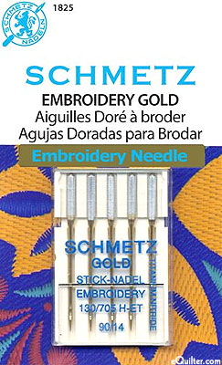 Schmetz Gold Embroidery Machine Needles - Size 90/14