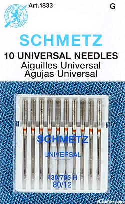 Schmetz Universal Machine Needles - Size 80/12 - 10 Pack