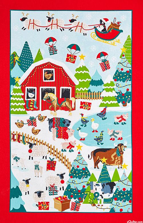 Christmas on Jennie's Farm - Tea Towel