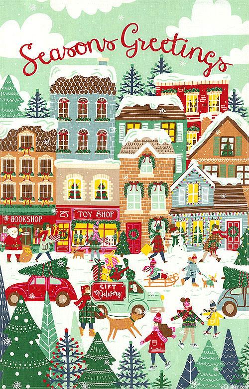 Seasons Greetings Christmas - Tea Towel